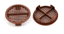 10 X 70 mm Marrón Plástico Redondo Circular empuje plafón ventilaciones de aire vivero caravana