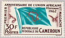 CAMEROUN KAMERUN 1962 374 373 African Malagasy Union Flagge Umriss Afrika MNH