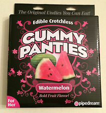 Edible Crotch-Less Gummy Panties Watermelon Green Her Lingerie Anniversary Gift