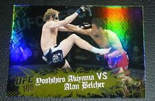 Yoshihiro Akiyama vs Alan Belcher UFC 100 2010 Topps Main Event Gold Card #111