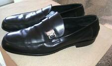 Men Salvator Ferragamo Studio Black Soft Leather Loafers Made In Italy Size 10D