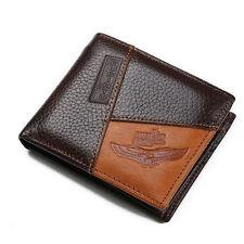 Brand genuine leather mens wallet coin pocket zipper men's leather wallet purse