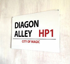 Harry Potter Diagon Alley Letrero Calle Película A4 metálica Placa
