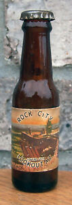 Rock City Miniature Long Neck Beer Bottle Salt Pepper Lookout Mountain GA Mini
