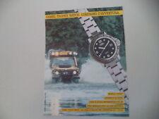 advertising Pubblicità 1991 CAMEL TROPHY WATCH DIVING