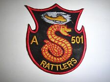 US Army Company A 501st Aviation Battalion RATTLERS Vietnam War Patch