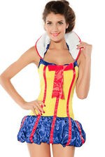 New Sexy Adult Snow Princess Fairy Tales Short Fancy Dress Costume Halloween