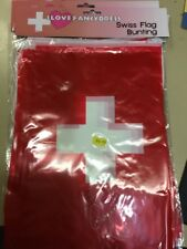 Swiss bunting 33ft flag decoration 20 flags 10 metres worldcup football