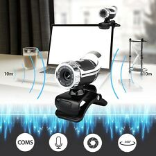 USB 2.0 1080P HD WebCam Web Camera Video with Mic 360° for MSN Skype Desktops
