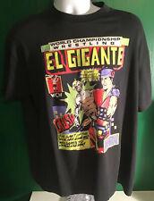 Rare WCW El Gigante Ric Flair Shirt NWA WWF Crockett Wrestling T Rick Giant