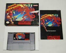 Super Metroid (Super Nintendo SNES, 1994) Complete in Box