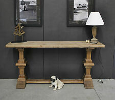 Rustic French Style Industrial Recycled Timber Hall Console Display Side Table