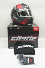 Castle X Matte Red Thunder 3 SV Trace Helmet w/Electric Shield - 36-21416 LARGE