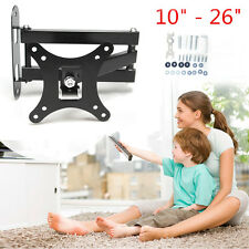 "UK Plasma LCD LED Monitor TV Wall Mount & Brackets Swivel Holder 10"" - 26"" Inch"