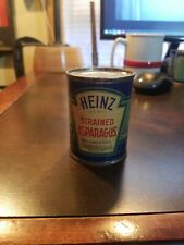 Vintage Heinz 57 Strained Baby Food Paper label Tin Can~ Strained Asparagus