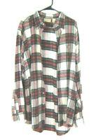 L L Bean Men's size Tall XL Plaid Check Long Sleeve Flannel Button Down Shirt