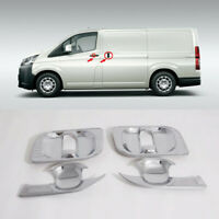 For Toyota HiAce H300 2019 2020 Chrome Outer Door Cup Bowl Frame Cover Trim 4pcs
