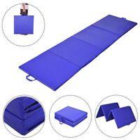 Exercise Mat - Yoga Gymnastics Gym Folding Aerobics Play Heavy Duty Home Fitness