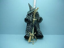 Dollhouse Miniature Hall Tree - Witch's Cape, Broom & Hat #110, Crickets