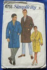 Simplicity 'Men's Robe' Sewing Pattern no 6756 [BOT]