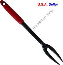 Fork Nylon 2 Tine Red Pot Fork Serving Utensil Kitchen Tools & Gadgets New