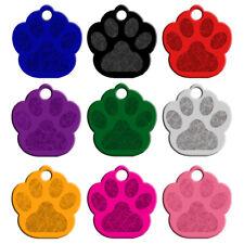 20 Stück Hundemarken Adressanhänger Aluminium Ohne gravieren Pfote Form 9 Farben