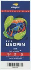 8/29 2019 US Open Tennis Loge FULL TICKET Serena Williams Bianca Andreescu