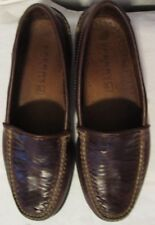 SPERRY TOP SIDER Cordovan Brown Leather Cross Weave Dress Loafer Slip-On Shoes 9