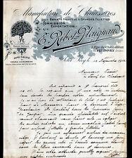 """PETIT-IVRY (94) USINE de CHAUSSURES & CHAUSSONS """"E. RIBET - PLAIGNAUD"""" en 1912"""