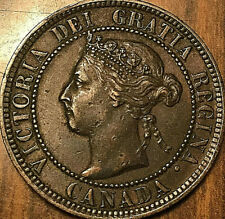 1897 CANADA LARGE CENT LARGE 1 CENT PENNY COIN - Fantastic example!