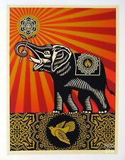 OBEY ELEPHANT : SHEPARD FAIREY : SIGNED COA : LARGE BENEFIT LIMITED ED 150