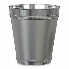 Bedroom Bathroom Kitchen Beaded Wastebasket Garbage Bin Trash Can Waste Basket