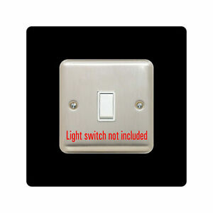 single LIGHT SWITCH SURROUND | square | acrylic back panel or finger plate | plu