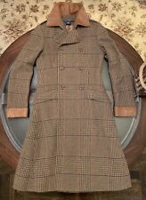 Ralph Lauren Runway Princess Coat Size Small 100% Wool & Leather Made in Italy