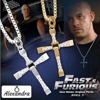 Joyas Cruz Colgante Acero Inoxidable Gallay Fast and Furious Vin Diesel Regalo