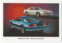 1982 Chevrolet CAMARO Z-28 SPORT COUPE & BERLINETTA Dealer Postcard UNUSED VG+
