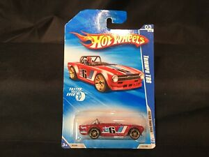 2010 Hot Wheels Faster Than Ever Triumph TR6 Red Unopened Package R7556 A+