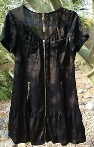 Cop.Copine Pretty Dress Zip Black  Size 42 approx US Size L- XL made in Portugal