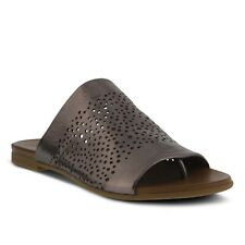 Spring Step Geti Women's Pewter Metallic Leather thong sandal Eur 40