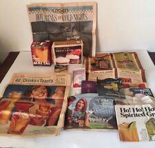 Lot Vintage Cocktail Mixed Drink Liquor Recipe Booklets Articles Mixes 60's-80's