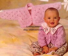 (423) Girls Pretty Bolero Cardigan DK Knitting Pattern, Baby Toddler, 16-24''