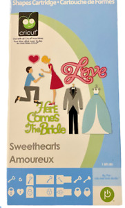 """Cricut Cartridge, """"Sweethearts,  Here Comes The Bride"""", Used, Linked, Complete"""