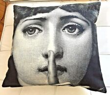 Fornasetti Original T&V Pillow Cushion Silenzio SHH