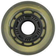 Inline Skate Rollerblade Wheel 73mm 75a Indoor Clear/Black Solid Hub