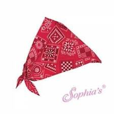 "Red Paisley Doll Bandana scarf fits 18"" American Girl Dolls"