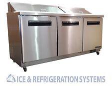 "Sun Ice 72"" Commercial Salad & Sandwich Refrigerator Prep Table Cooler SUNST-72"