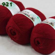 Sale New 3Skeinsx50gr Soft Acrylic Wool Cashmere Hand Knit Shawl Crochet Yarn 21