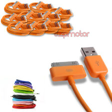 10X 6FT USB SYNC DATA POWER CHARGER ORANGE CABLE DOCK CONNECTOR IPHONE IPOD IPAD