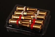 8PCS Altavoz de cobre chapado en oro conectores de terminal vinculante puestos estilo WBT