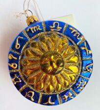 Kurt S Adler Polonaise Collection Zodiac Sun Komozja Blue Gold Glass Ornament